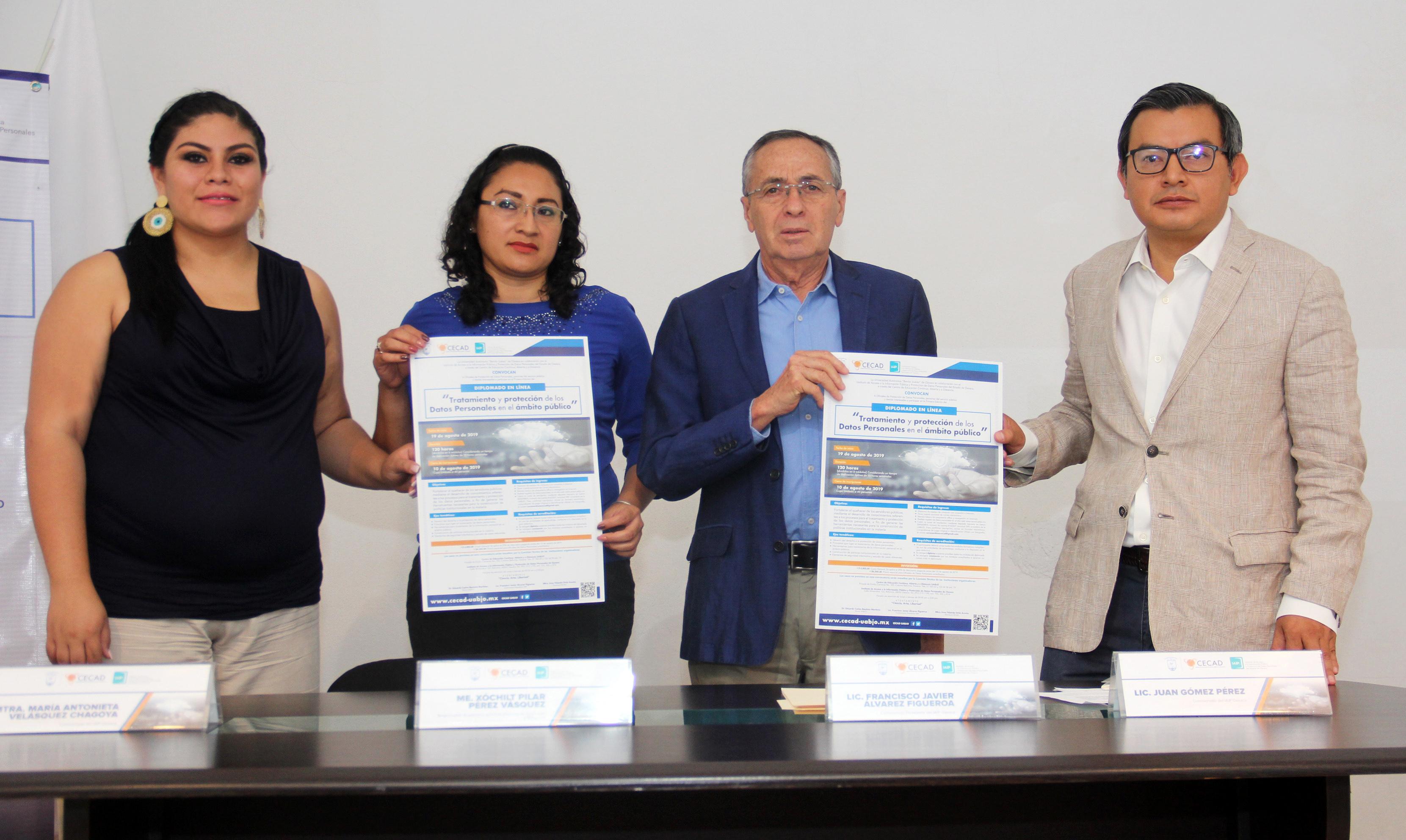 PRESENTA IAIPO y CECAD DIPLOMADO EN MATERIA DE PROTECCIÓN DE DATOS PERSONALES